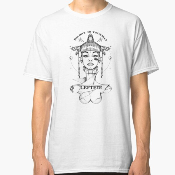 Lefteye drawing by Artist Will Focus Classic T-Shirt