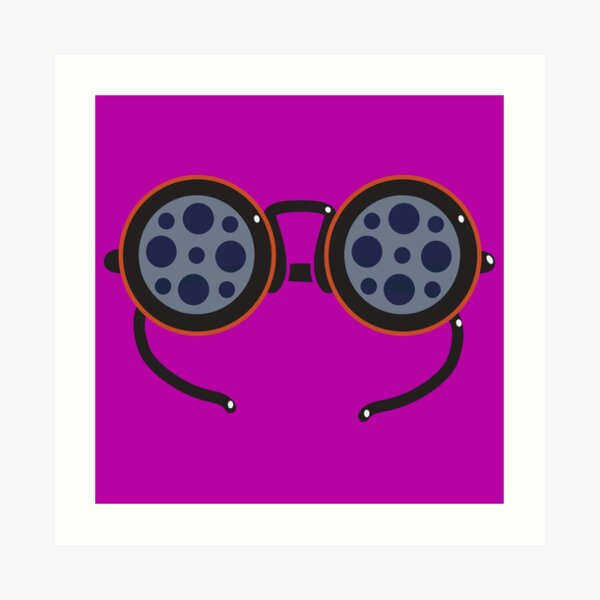 Film Reel Glasses Art Print