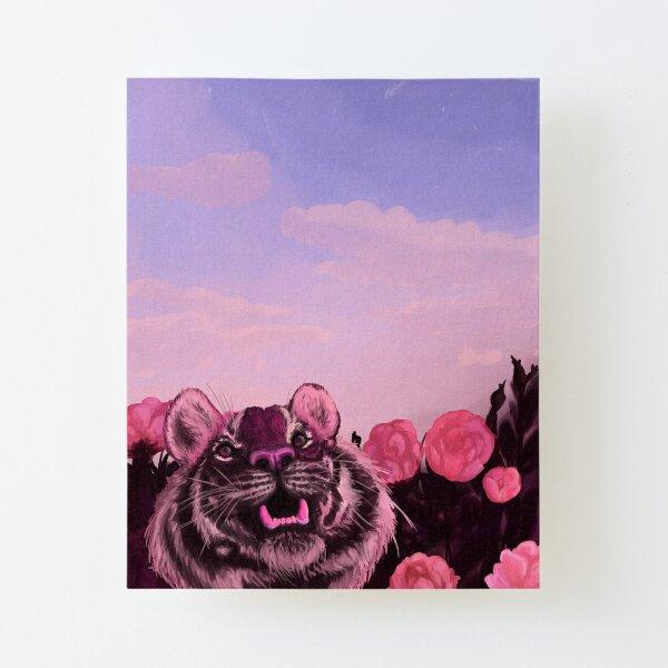 Pink Tiger Canvas Mounted Print