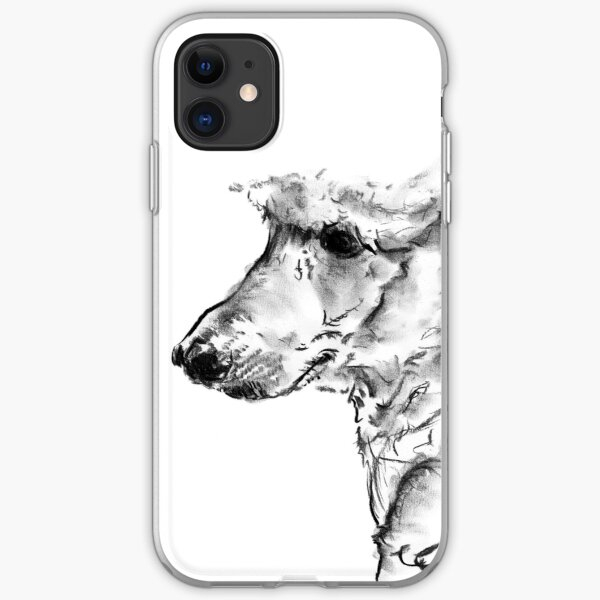 Poodle Drawing iPhone Soft Case