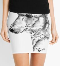 Poodle Drawing Mini Skirt