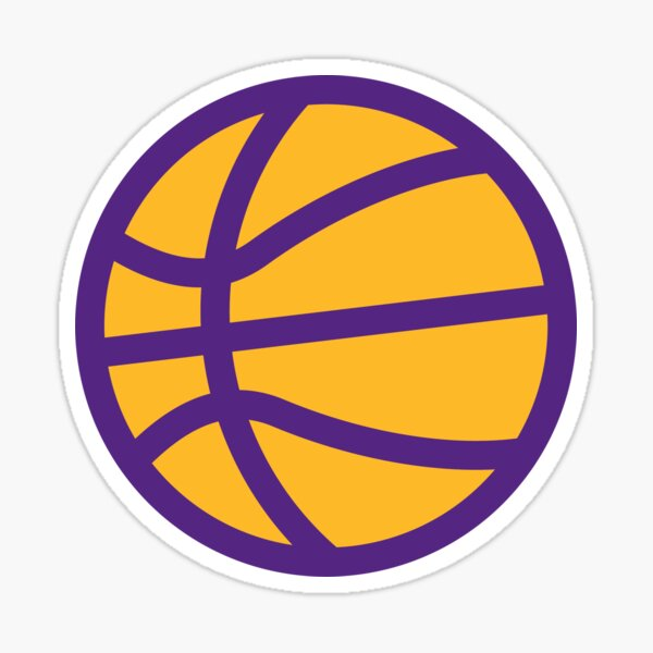 Rep your team! Simple Basketball Design In Your Team's Colors! Sticker