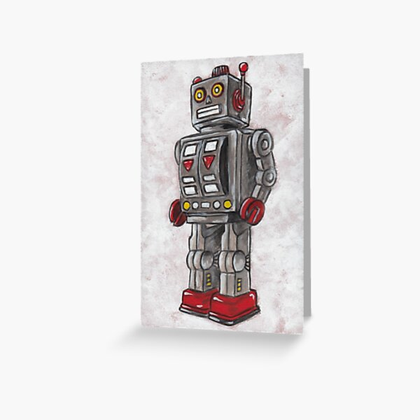 Red Robot Greeting Card