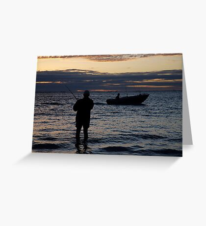 seascapes #269, just fishin' Greeting Card