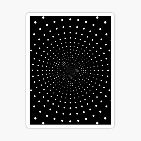 Blue Circles and Rays on White Background - фон иллюзия Sticker