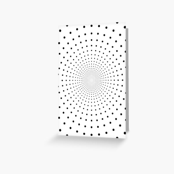 Blue Circles and Rays on White Background - фон иллюзия Greeting Card