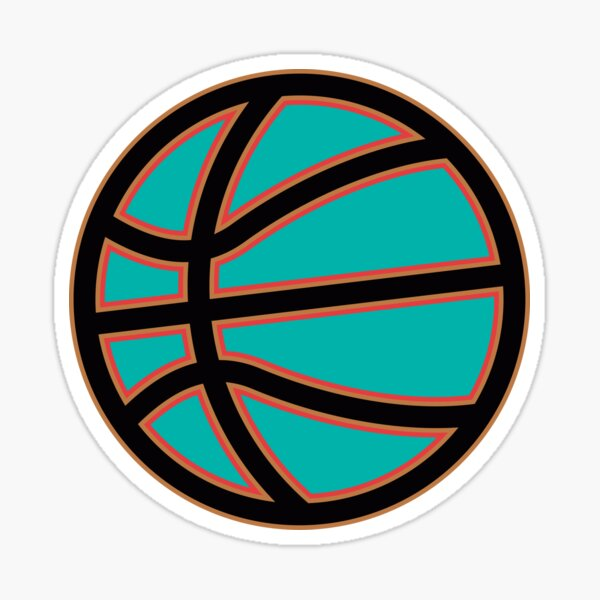 Simple Basketball Design In Your Team's Colors! Sticker