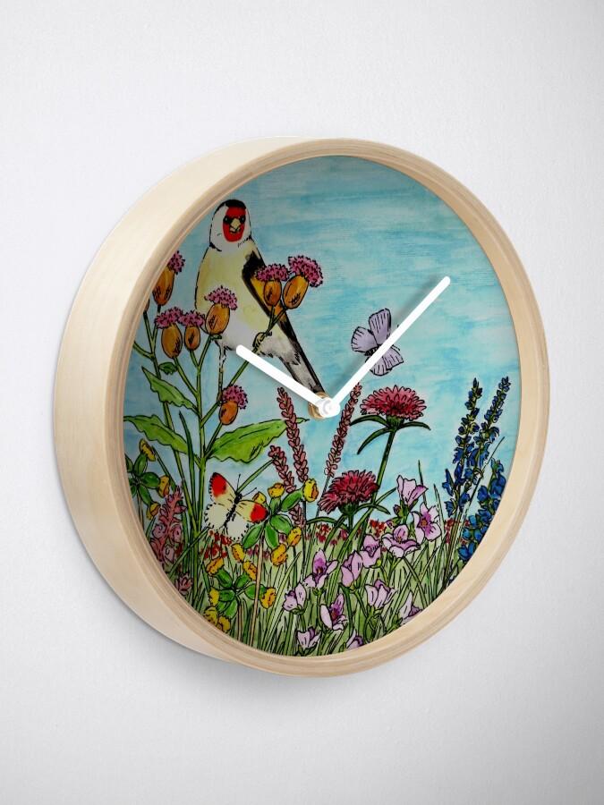 Alternate view of Flower Meadow - Clock Clock