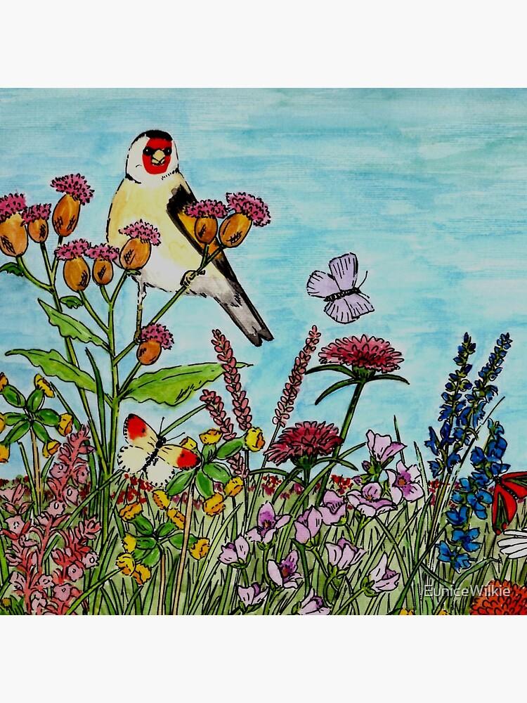Flower Meadow - Clock by EuniceWilkie
