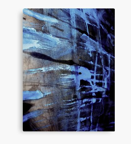 dreaming deep water.... blue ice wall Canvas Print
