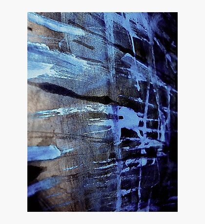 dreaming deep water.... blue ice wall Photographic Print