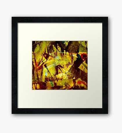 down to earth.... forest creatures Framed Print