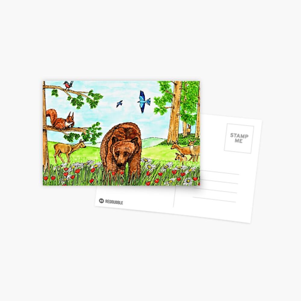 Friendly Bear - Postcard Postcard