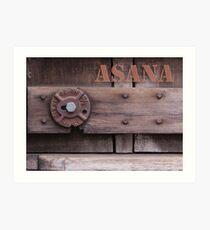 Rustic Asana Art Print