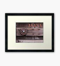 Rustic Asana Framed Print
