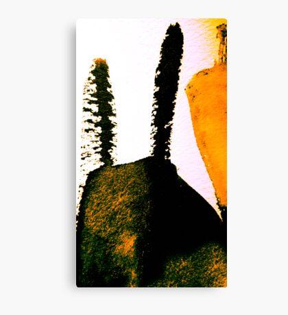 scorched peak....charred cactus  Canvas Print