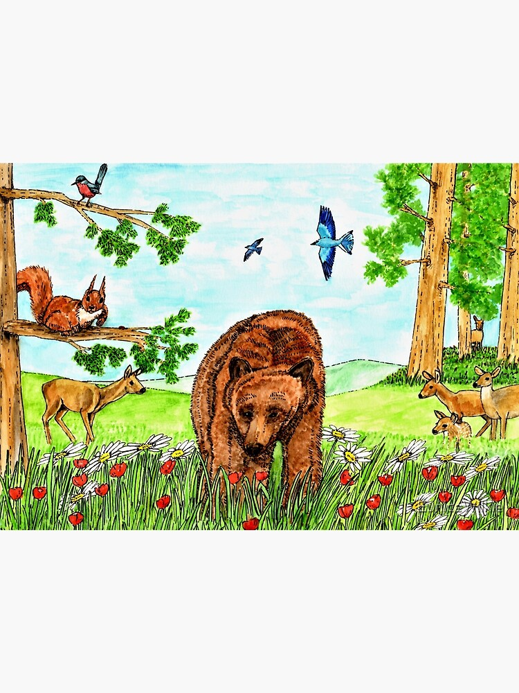 Friendly Bear - Wall Art by EuniceWilkie