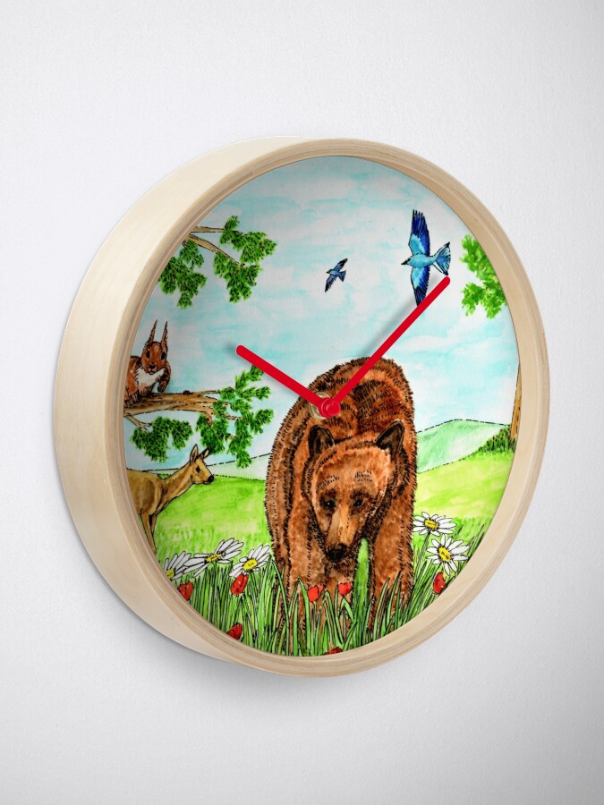 Alternate view of Friendly Bear - Clock Clock