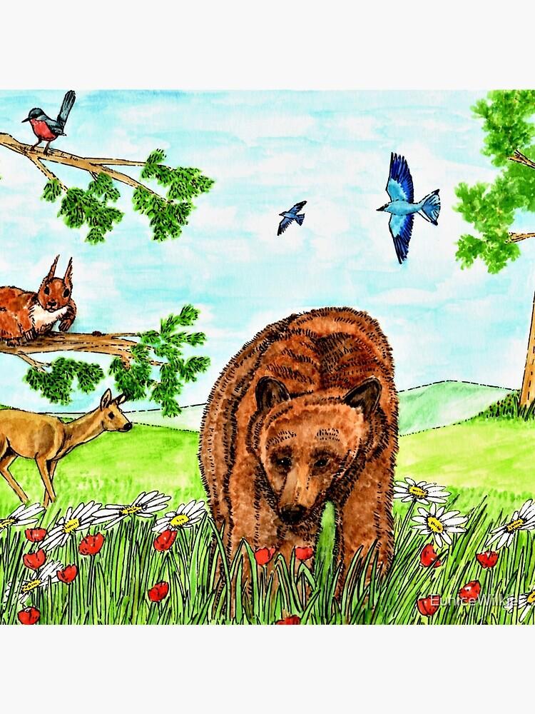 Friendly Bear - Clock by EuniceWilkie