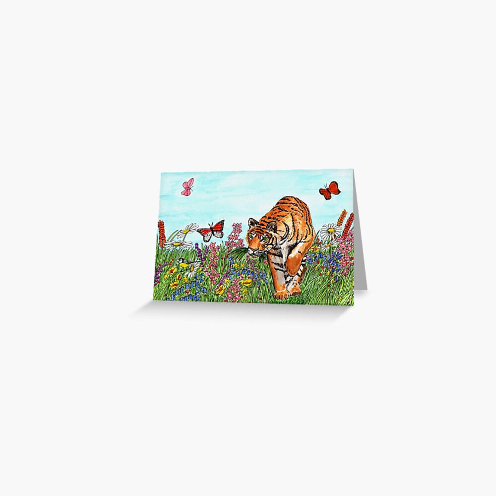 Tiger in a Perfect World - Postcard Greeting Card