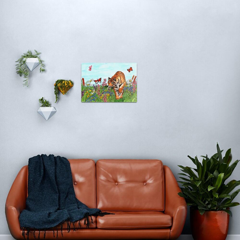 Tiger in a Perfect World - Wall Art Metal Print