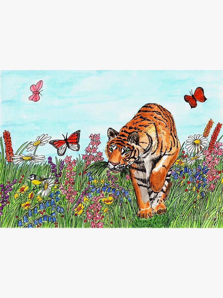 Tiger in a Perfect World - Wall Art by EuniceWilkie