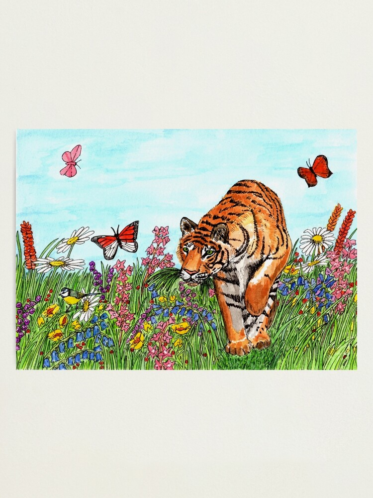 Alternate view of Tiger in a Perfect World - Wall Art Photographic Print