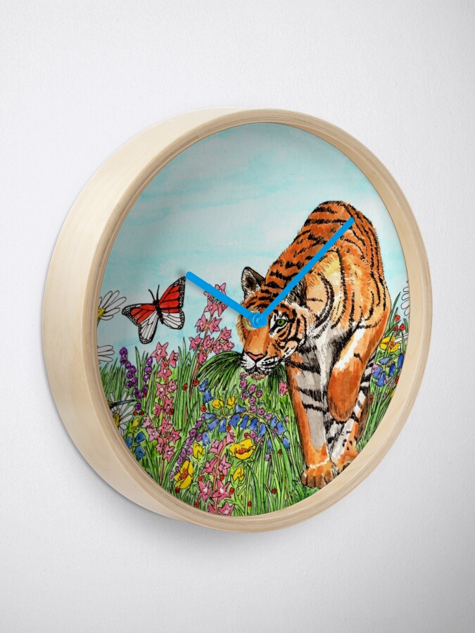 Alternate view of Tiger in a Perfect World - Clock Clock