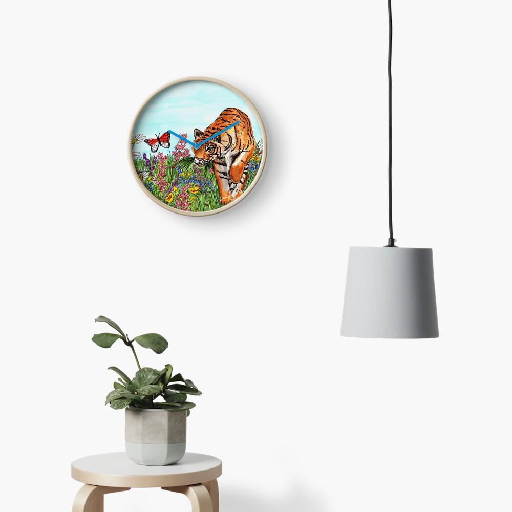 Tiger in a Perfect World - Clock Clock