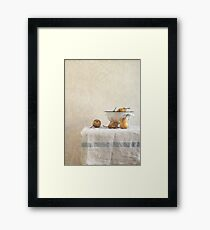 colender and pears Framed Print