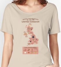Regional Fried Breakfasts of the United Kingdom Women's Relaxed Fit T-Shirt