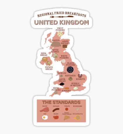 Regional Fried Breakfasts of the United Kingdom Sticker