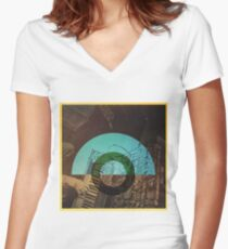 Everything Sounds Better with a Moog Women's Fitted V-Neck T-Shirt