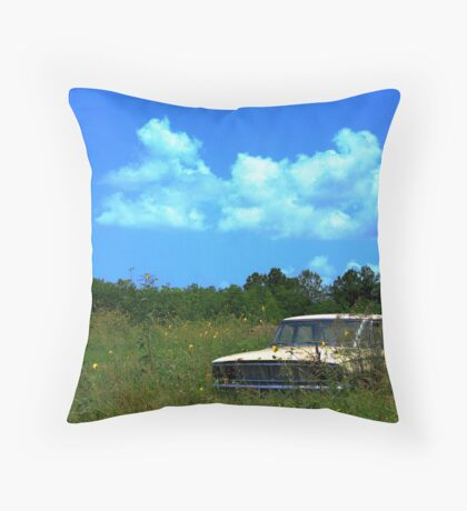 Flowers and rust Throw Pillow