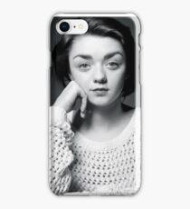 Maisie Williams Black & White iPhone Case/Skin