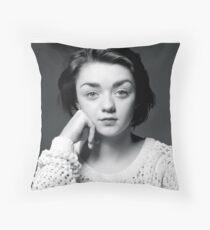Maisie Williams Black & White Throw Pillow