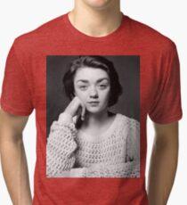 Maisie Williams Black & White Tri-blend T-Shirt