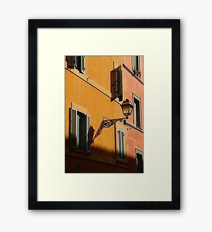 Street Light - Rome Framed Print