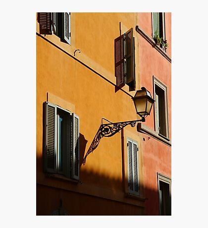 Street Light - Rome Photographic Print
