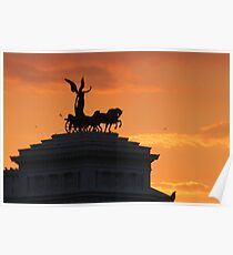 Sunset over Il Vittoriano Poster