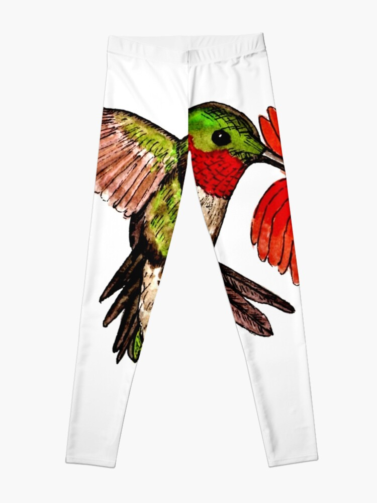 Alternate view of Humming Bird and Flower - Scarf and Clothing Leggings
