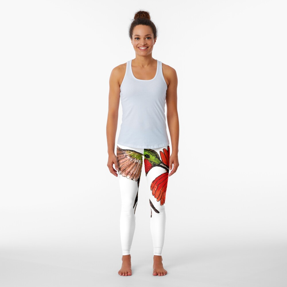 Humming Bird and Flower - Scarf and Clothing Leggings
