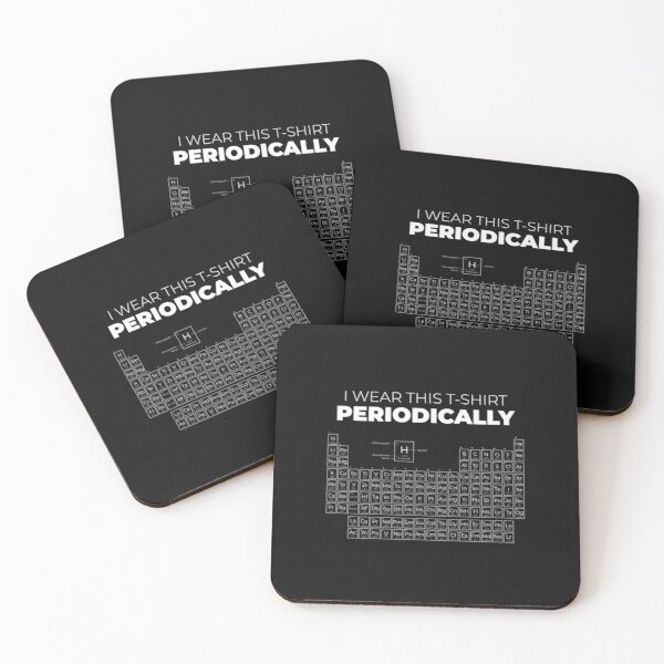 Periodic table, chemical elements Coasters (Set of 4)