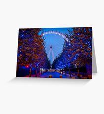 The London Eye - Dawn Light. Greeting Card