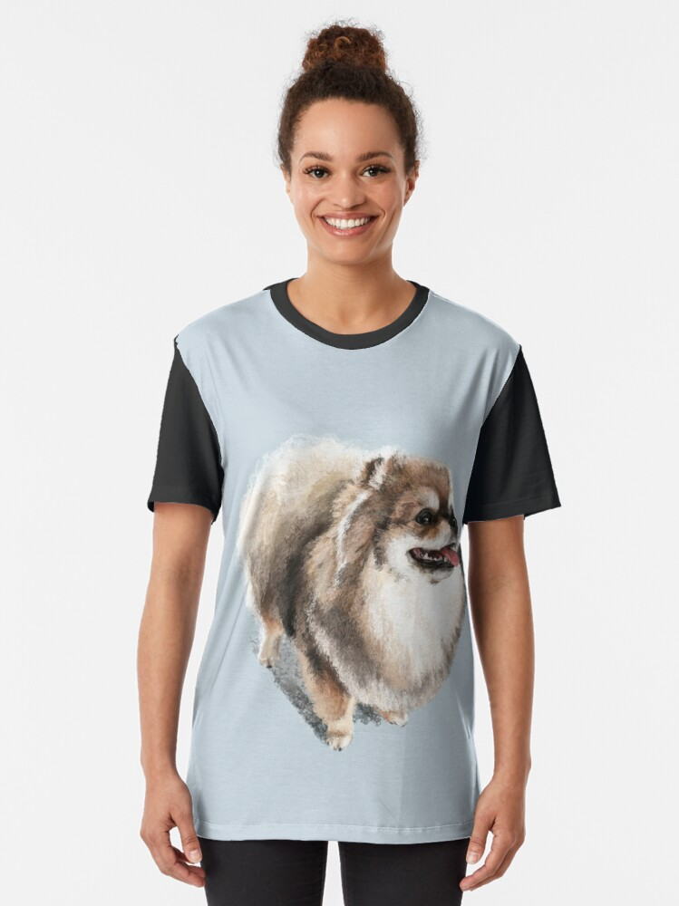 Alternate view of The Pomeranian Graphic T-Shirt