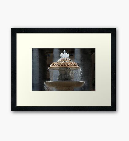 Fountain - St Peter's Square Framed Print