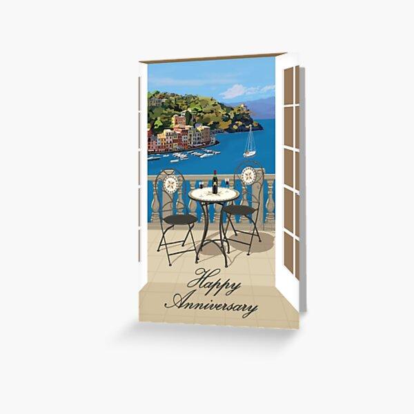 Mediterranean Anniversary Greeting Card