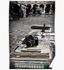 Old camera in market, Havana Cuba Poster