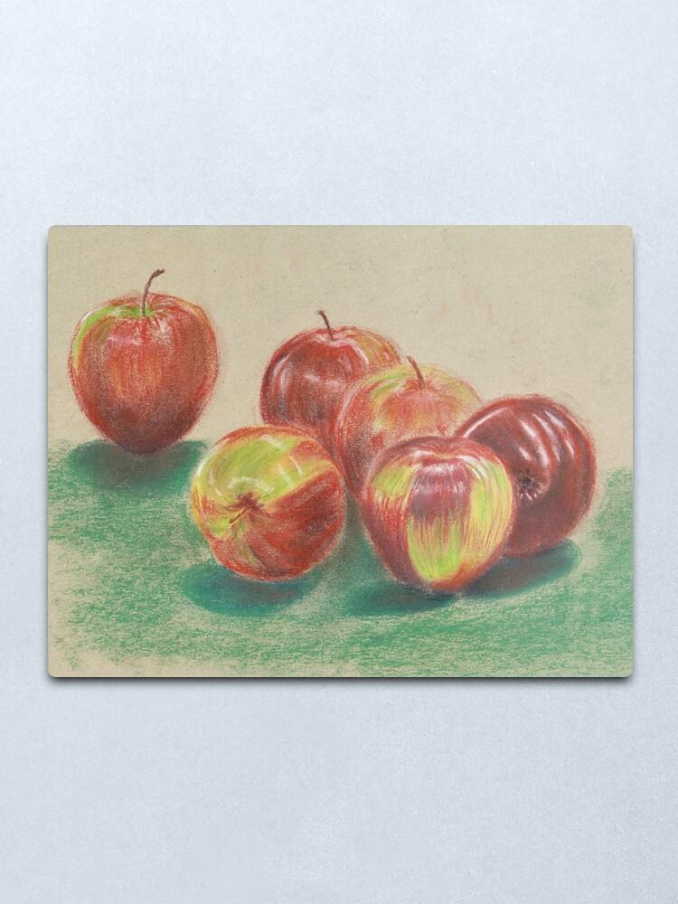 Alternate view of Apples - Wall Art Metal Print