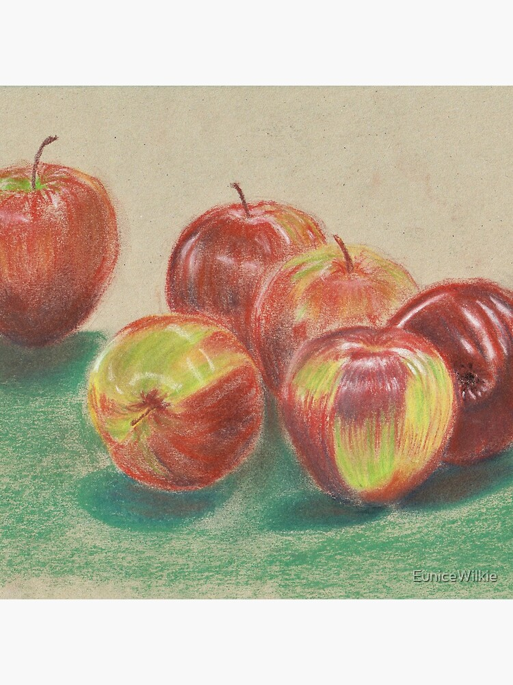 Apples - Clock by EuniceWilkie